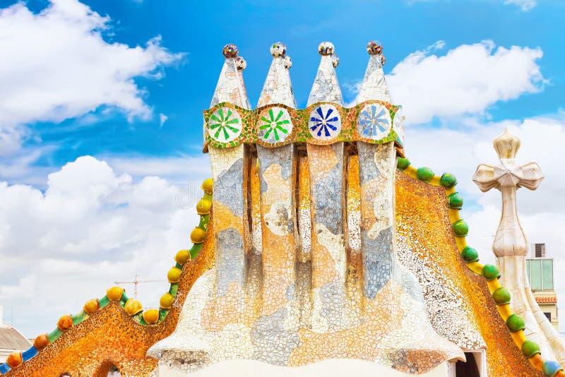 Каса Batlo дома крыши стоковое изображение