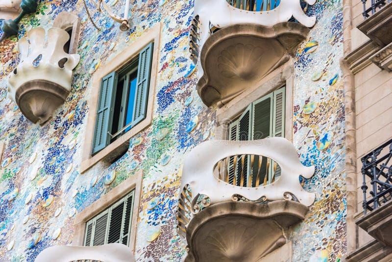 Каса Battlo дома в Барселоне, Испании стоковые фото