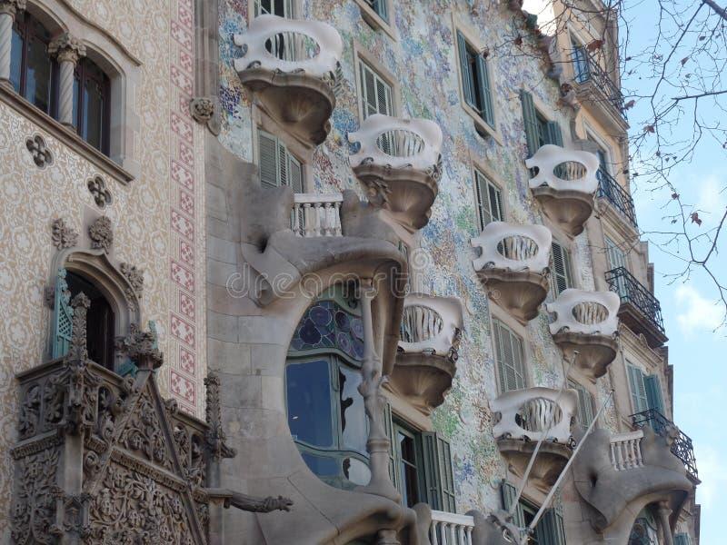 Каса Calvet ` s Gaudi, Барселона стоковое фото