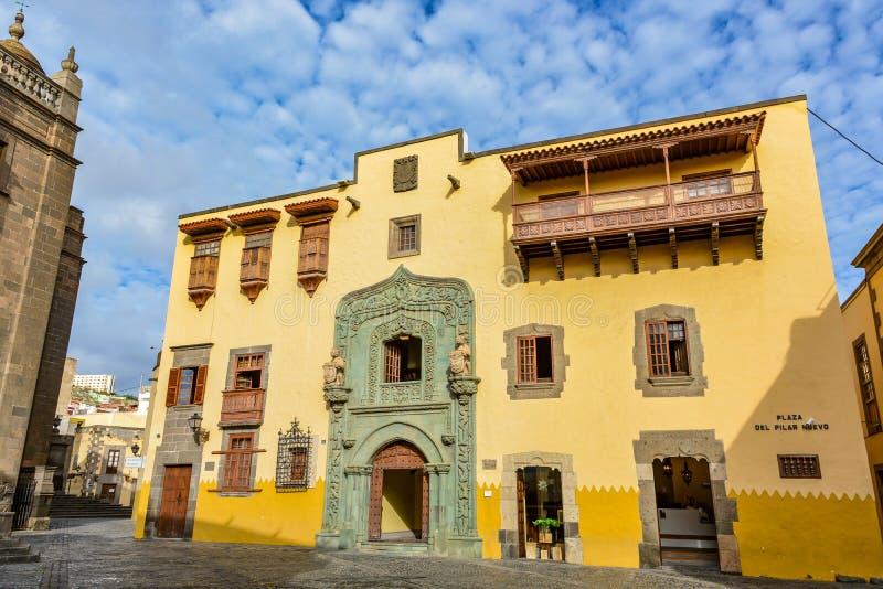 Каса de Двоеточие (дом Christopher Columbus), Las Palmas, Gran Canaria, Испания стоковые фотографии rf