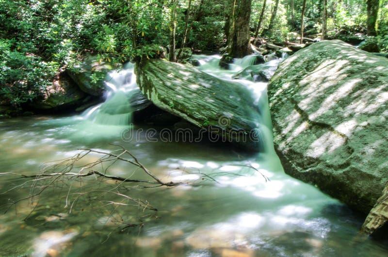 Каскады вдоль реки Catawba стоковое фото rf