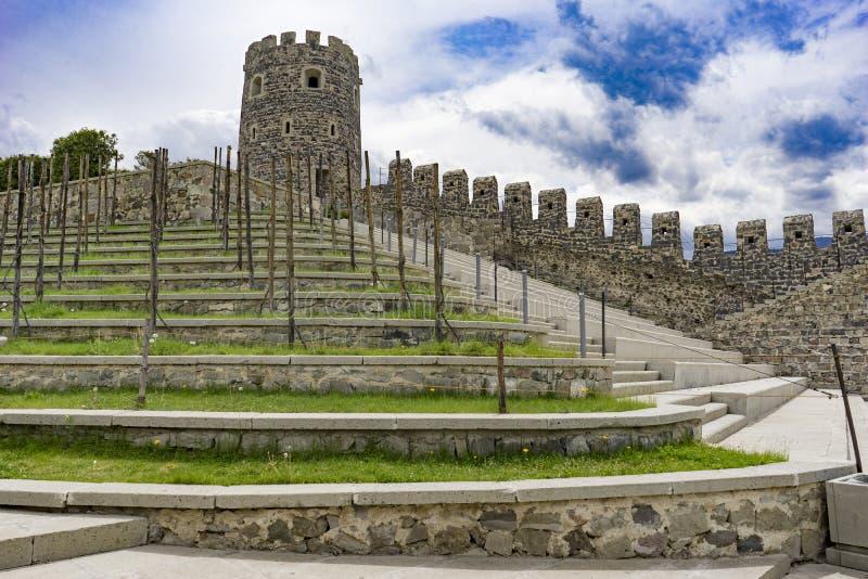 Каскады замка, Rabati, Akhlatsikhe, Georgia, могут 2017 стоковые изображения