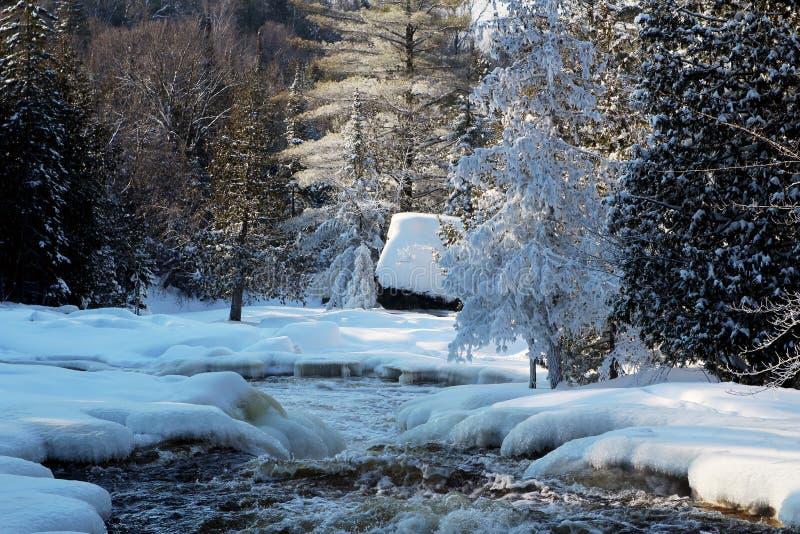 Каскады реки Doncaster стоковое фото