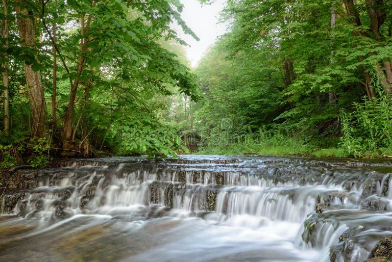 Каскады водопада стоковое изображение