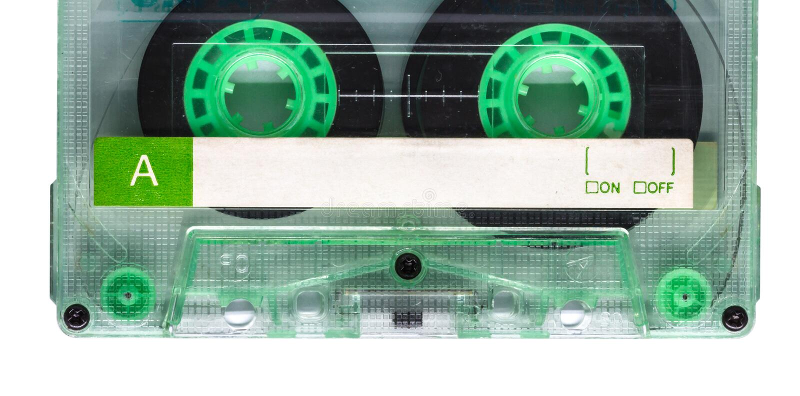 Кассета ленты звукозаписи стоковые фото