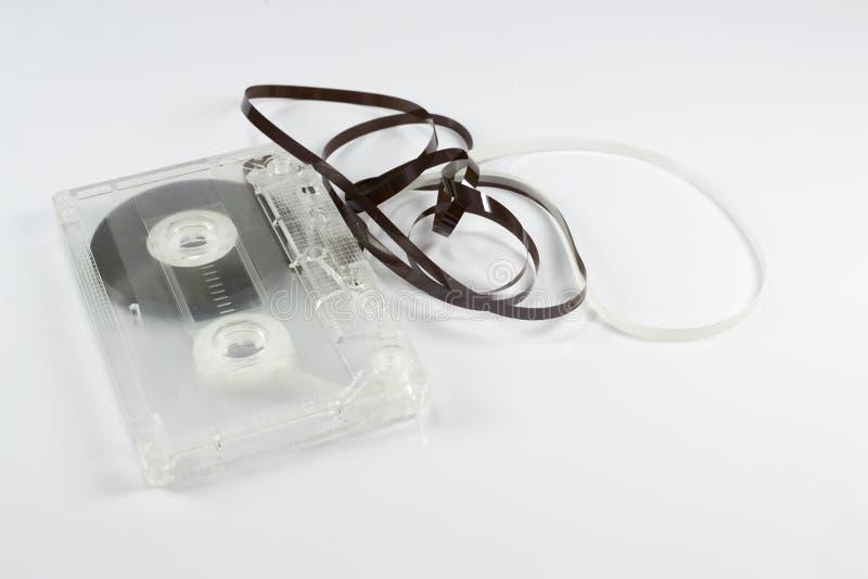Кассета с запутанной лентой стоковая фотография
