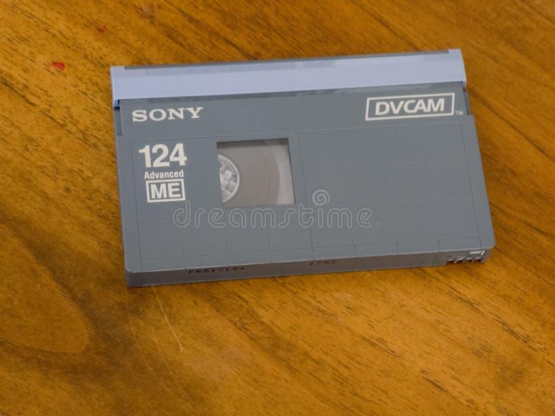Кассета DVCAM видео- стоковое изображение