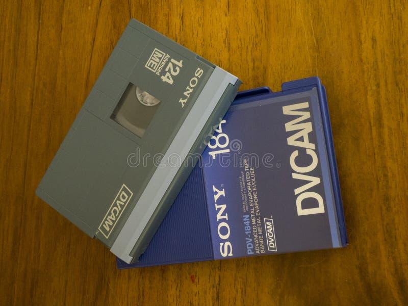 Кассета DVCAM видео- стоковое изображение rf