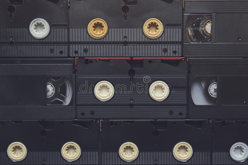 Кассеты видео VHS стоковая фотография