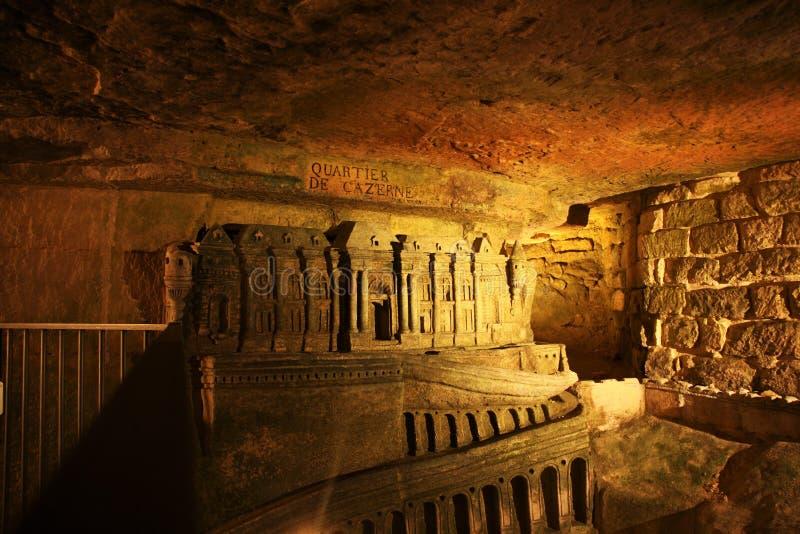 катакомбы Парижа стоковые изображения rf