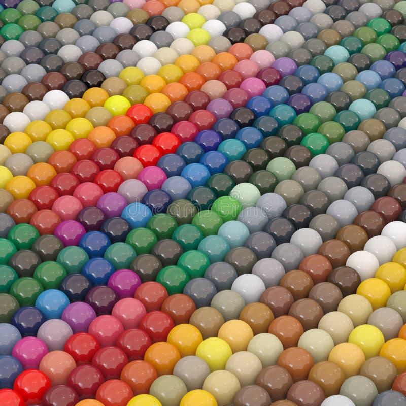 каталог шариков красит ral нижнюю стоковое изображение rf