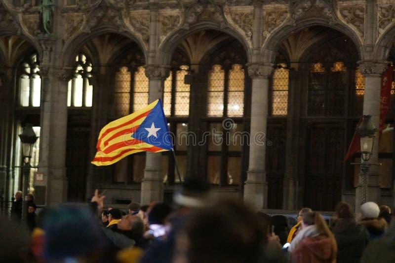 Каталонский флаг независимости стоковые фото