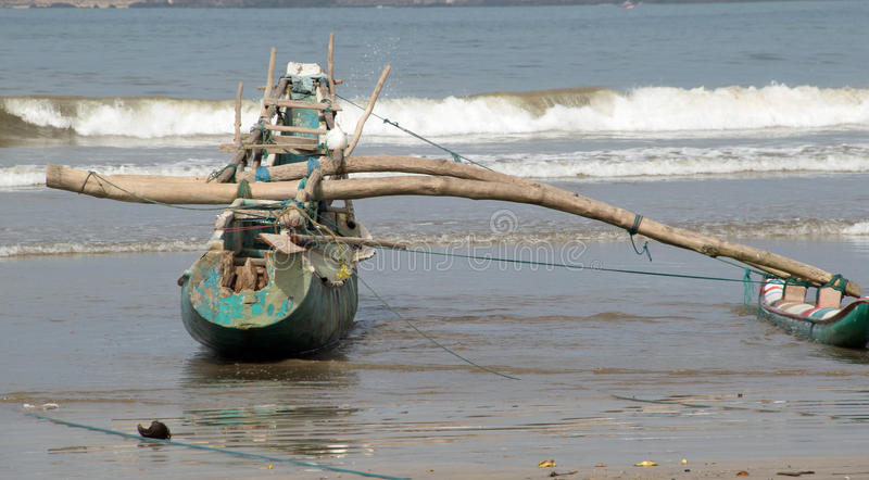 Катамаран Sri Lankan стоковая фотография