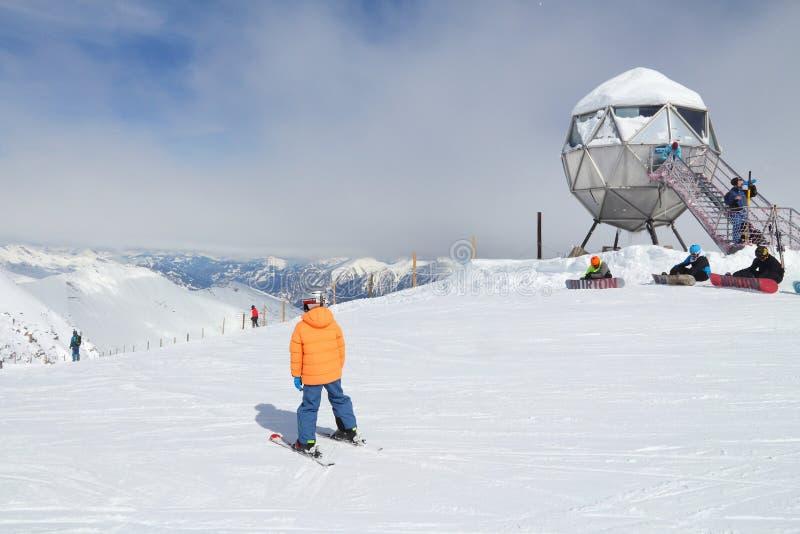 катание на лыжах Австралии стоковое фото