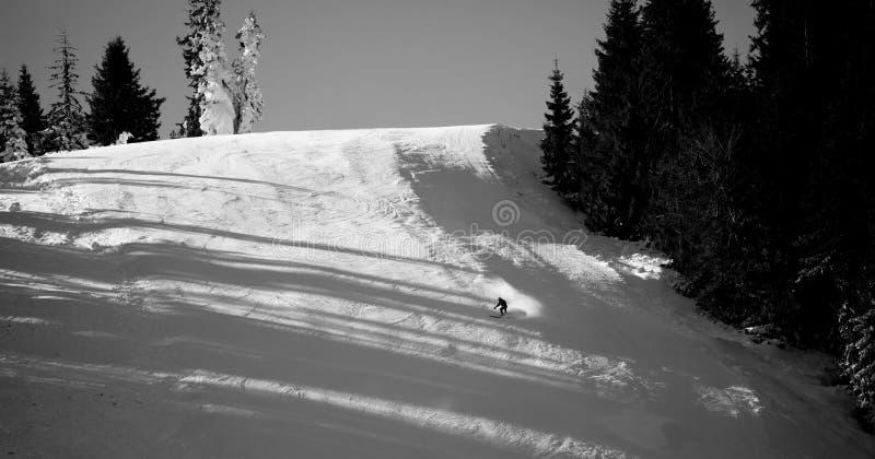Катание на лыжах курорта Pamporovo стоковая фотография