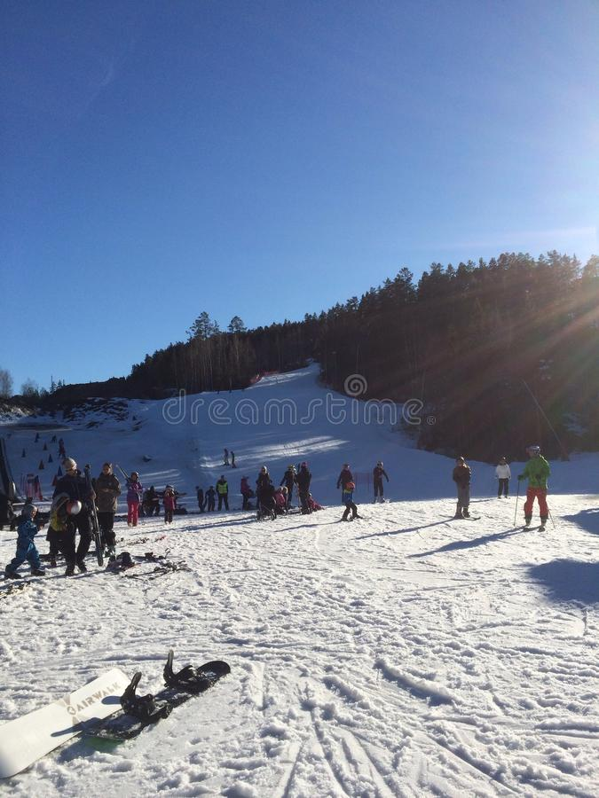 катание на лыжах Норвегии стоковая фотография