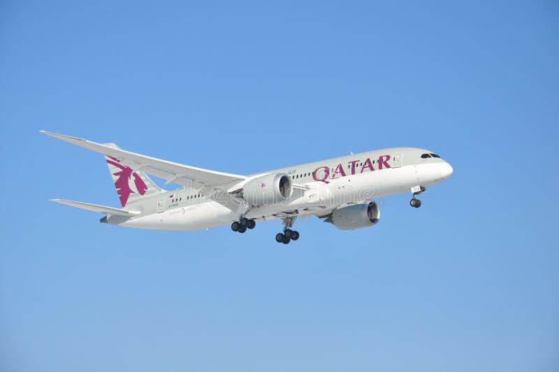 Катар Боинг 787-8 Dreamliner стоковые изображения