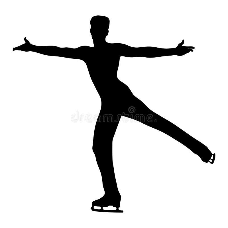 Кататься на коньках человека танцев иллюстрация вектора