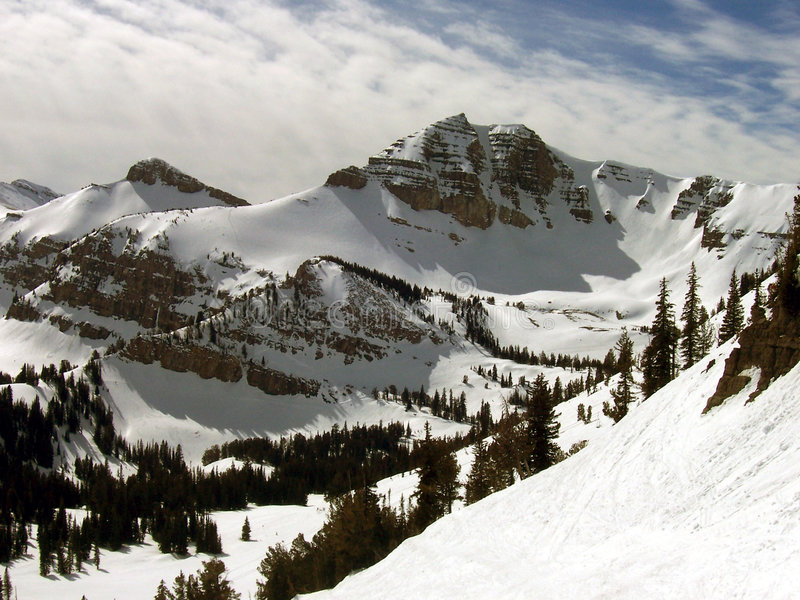 кататься на лыжах гор стоковые изображения