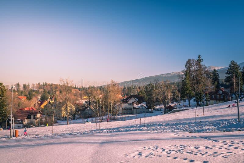 Кататься на лыжах в Szklarska Poreba стоковые изображения