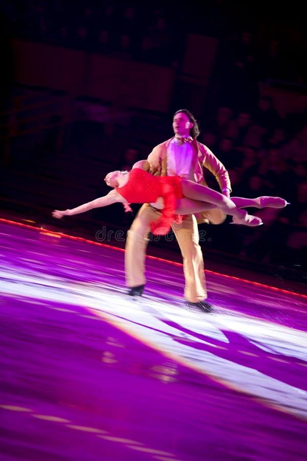 Катаясь на коньках сентенция Marinin & Anastasia Volochkova пар стоковые изображения rf