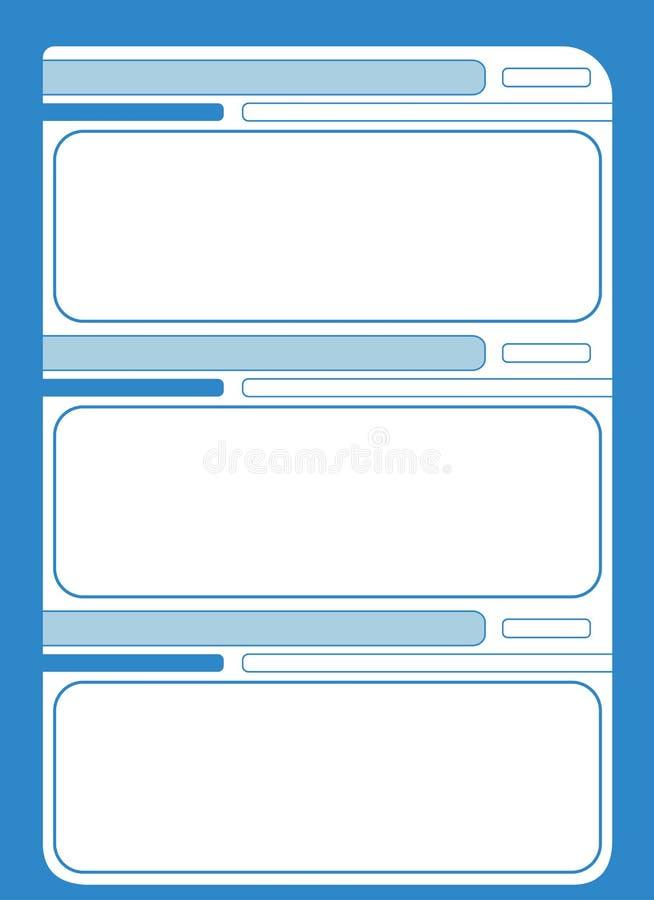 Каталог страницы вектора буклета иллюстрация штока