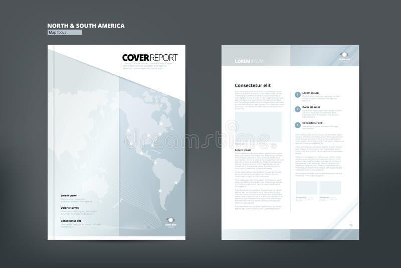 Каталог для Америки Дизайн каталога Дизайн каталога крышки иллюстрация вектора
