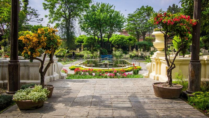 Катманду, Непал, 04 12 2018 - Сад мечт стоковые изображения rf