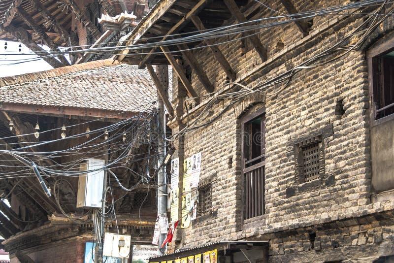 Катманду спрятанных roofстоковое фото