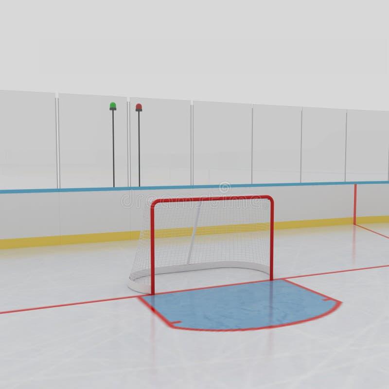 каток льда хоккея иллюстрация вектора