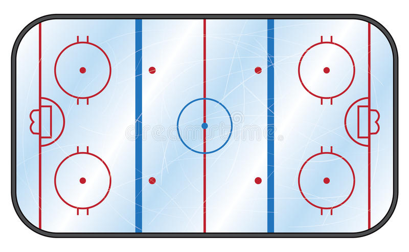 Каток хоккея на льде иллюстрация штока