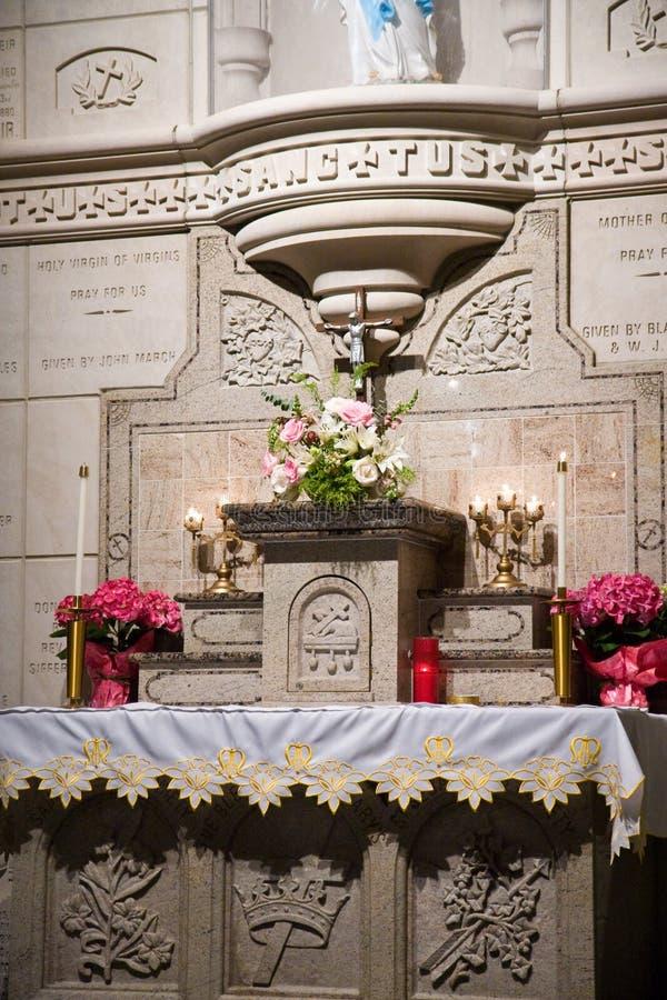 католик алтара стоковая фотография