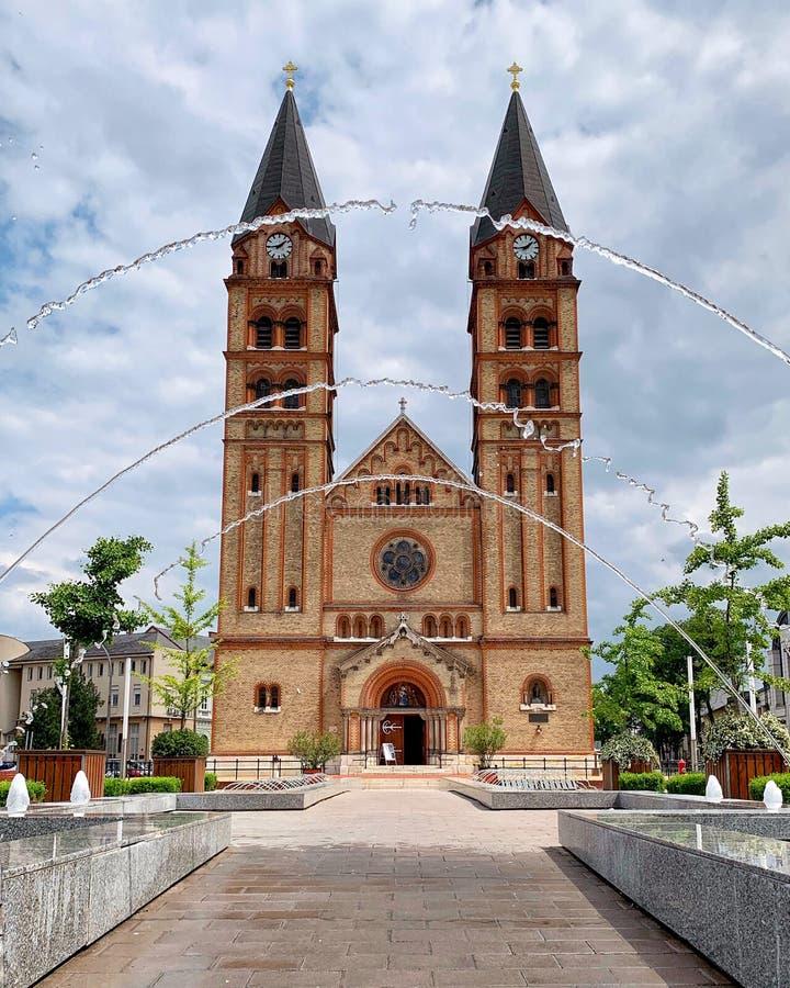 Католическая церковь в Nyíregyháza, Венгрии стоковое фото rf