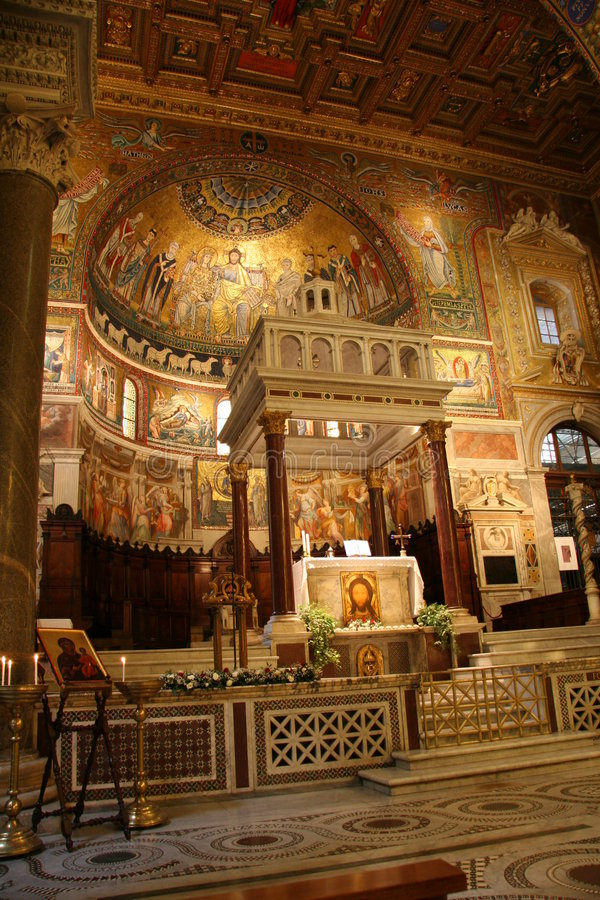 католическая церковь причудливый старый rome стоковое изображение