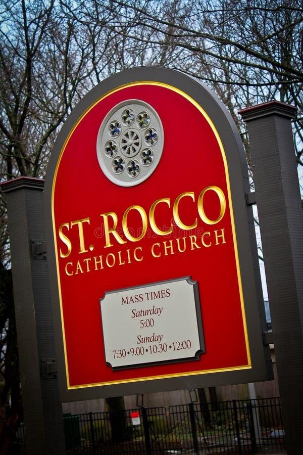 Католическая церковь ` s St Rocco, Johnston, RI стоковое изображение