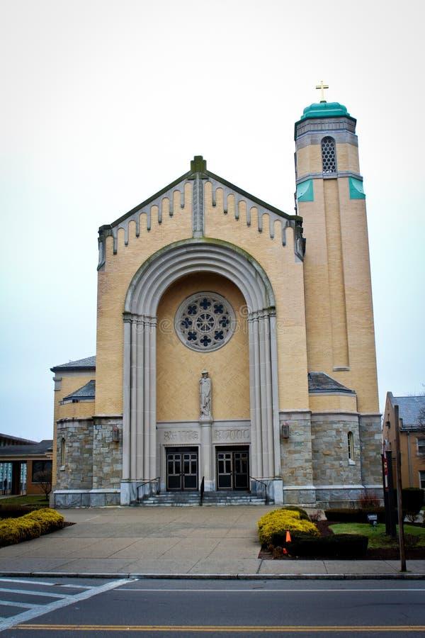 Католическая церковь ` s St Rocco, Johnston, RI стоковые фото