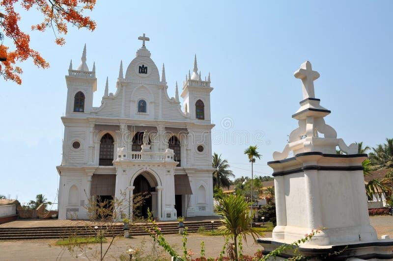 Католическая христианская деревенская церковь, Goa, Индия стоковое изображение