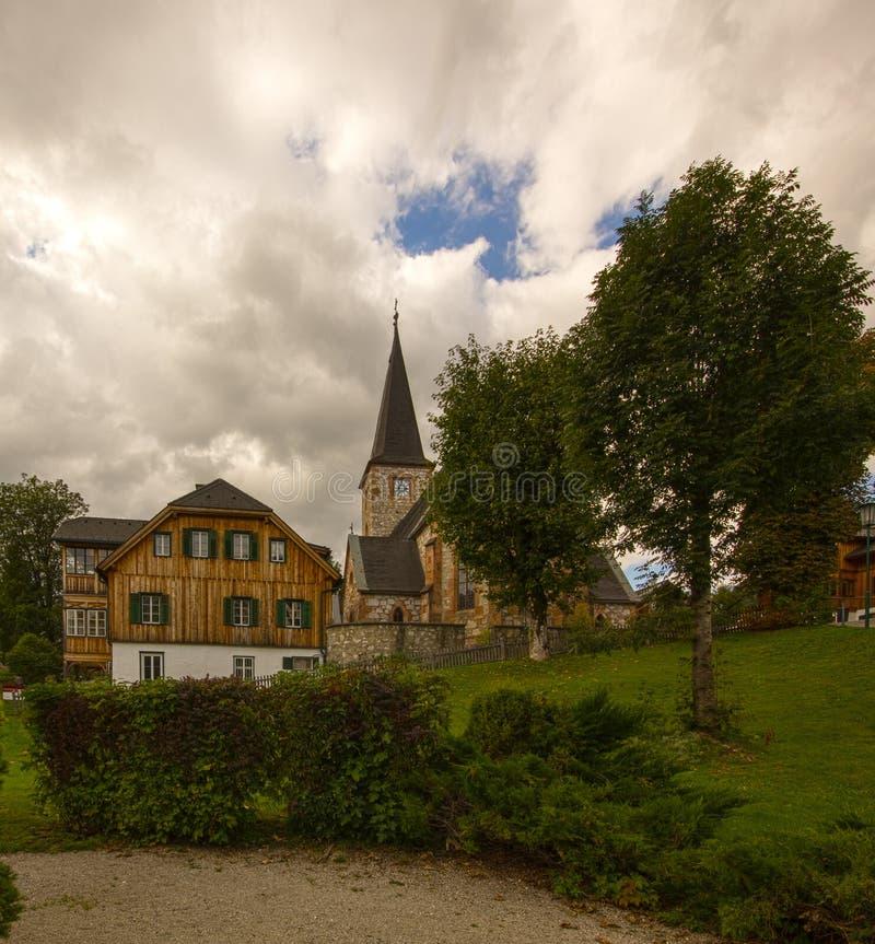 Католическая церковь в Altaussee, Австрии стоковые изображения rf