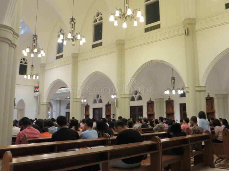 Католическая церковь в Serpong стоковое изображение