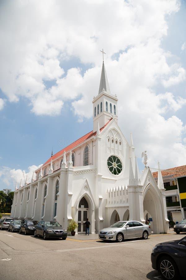 Католическая церковь нашей дамы Лурда в Сингапуре стоковая фотография