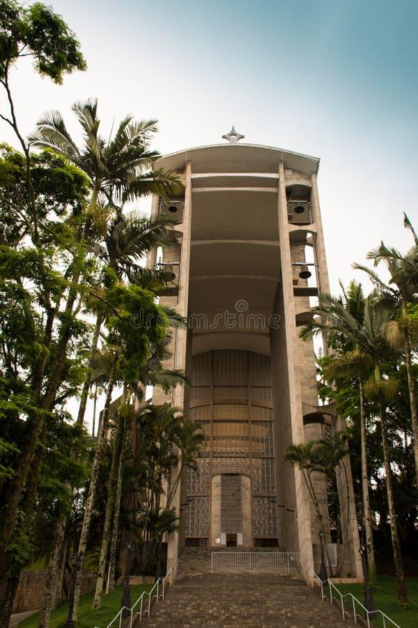 Католическая церковь - собор Brusque - Санта-Катарина, Бразилия стоковое фото