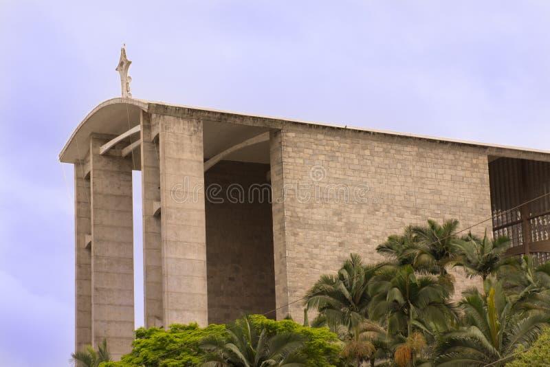 Католическая церковь - собор Brusque - Санта-Катарина, Бразилия стоковое фото rf