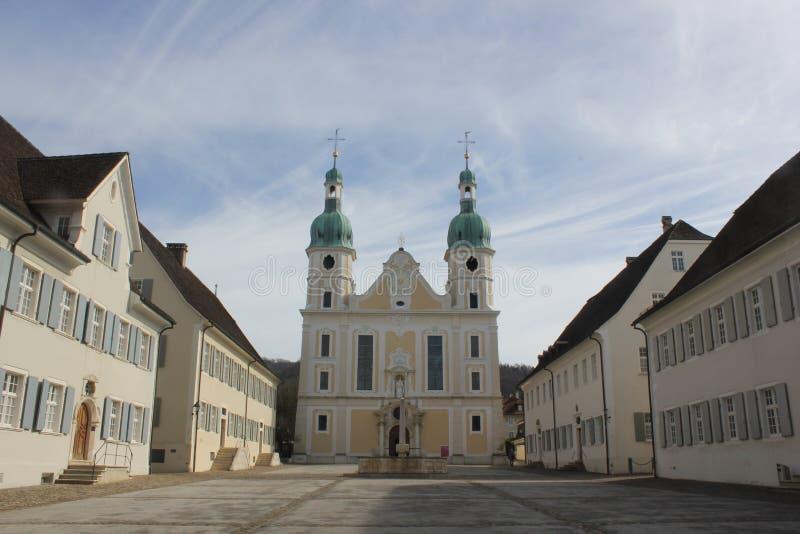Католический собор в Arlesheim стоковое фото
