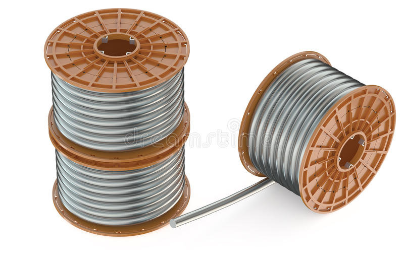 Катушки стальных проводов бесплатная иллюстрация