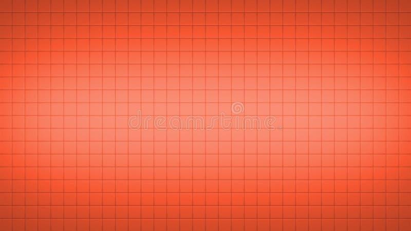 Кафельная квадратная предпосылка картины стены красная иллюстрация вектора