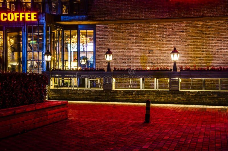 Кафе-бар на ноче, Пекине стоковое изображение rf
