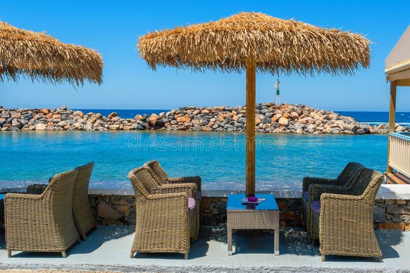 Кафе в Sissi. Крит, Греция стоковые изображения