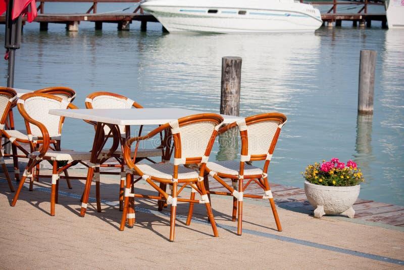 кафе пляжа стоковые изображения rf