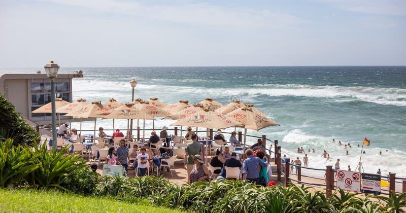 Кафе пляжем в Umhlanga стоковая фотография