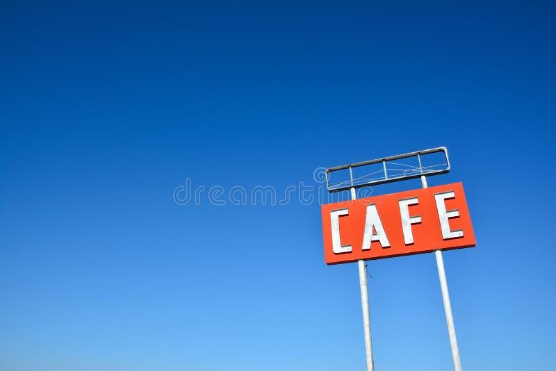 Кафе подписывает внутри Техас стоковое фото rf